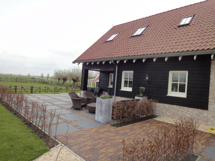nieuwbouw woonboerderij te Oud-Alblas