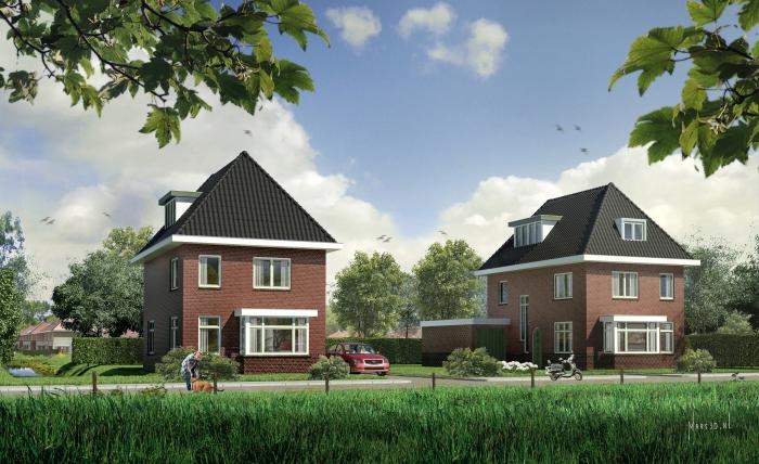 vrijstaande woningen te Rotterdam-IJsselmonde